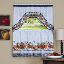 Country Red Apple 3 Piece Curtain Swag and Tier Set TU2