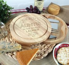 Auntie Birthday, Christmas, Xmas Gift Personalised Cheeseboard Gifts Aunty Aunt