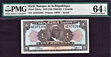Haiti One Gourde 1979 TYVEK Pick-230Aa Ch UNC PMG 64 EPQ