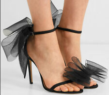 Womens High Heels Lace Sandals Peep Toe Satin Stiletto Party Shoes Wedding Pumps