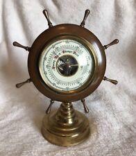 Vintage Weather Selsi Barometer Instrument Brass Gauge West Germany