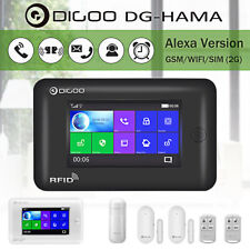 Digoo Touch Screen 2G GSM&WiFi Smart Home Security Alarm System Kit With
