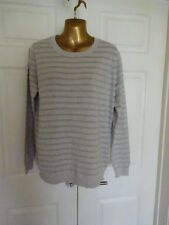 Fabulous Boden Sparkly Striped Jumper with Silk Size L