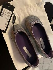 NWT Dolce & Gabbana Girls Silver Shoes Size 26