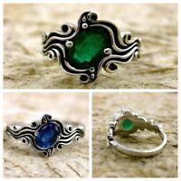 jewlery engagement unique mariage vintage 1.6ct saphir des bijoux 925 silver