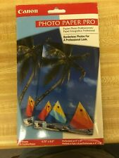 "CANNON PHOTO PAPER PRO F51-3441-400 20 SHEETS. PERFORATED AT 4"" X 6"""