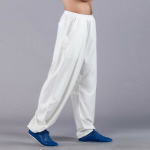 Linen Martial Arts Kung Fu Tai Chi Pants Trousers Loose Wushu Wingchun Pants New
