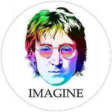 JOHN LENNON IMAGINE THE BEATLES QUALITY STICKER DECAL  100MM  BUY 2 GET 1 FREE