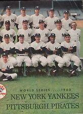 New York Yankees 1960 World Series Program vs Pittsburgh Pirates Unmarked