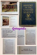 History Of The United States By Wilbur Fiske Gordy 1922 HC