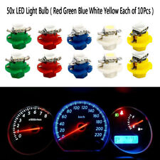 50x T5 B8.4D 5050 LED 1SMD Indicator Gauge Cluster Dash Dashboard Side Lights