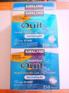 Kirkland Signature Quit 2 mg Ice Mint Gum 300 pcs Nicotine Polacrilex