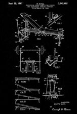 1967 - Exercising Bench Press Device - M. Gaul - Patent Art Poster