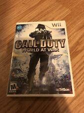 Call Of Duty World At War Nintendo Wii Cib XP3