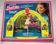 Extra Rare Mattel 1976 Ballerina Barbie Stage Complete w/ Original Box - #9651
