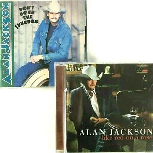 Alan Jackson 2 CD Bundle Don't Rock Jukebox Like Red On A Rose Country 1991-2006