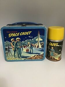 1954 TOM CORBETT SPACE CADET METAL LUNCHBOX WITH THERMOS