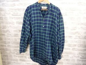 GLENESKE vintage Irish Grandfather shirt cotton flannel night 2/3XL    T817
