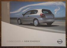 NISSAN ALMERA orig 2002 2003 UK Mkt Sales Brochure - S SE SVE