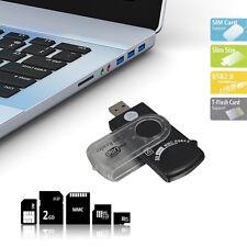 Lecteur USB Universel 14 en 1 Pour Carte SIM Et SD Transfert Rapide Donnée Neuf