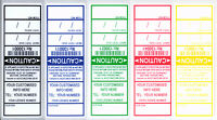 250 ELECTRICAL / APPLIANCE TEST TAGS / LABELS. INCLUDES FREE CUSTOMISING