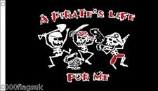 Pirate Skeletons 'It's A Pirates Life For Me' 5'x3' Flag