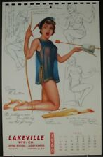 Ted Withers Pinup Calendar Page June 1960 Huntress