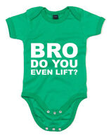 Bro do you even Lift, Gym, Meme Inspired Printed Babygrow Cute Baby Shower Gift