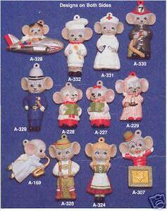 Ceramic molds, Alberta Christmas Ornaments 12 Mice