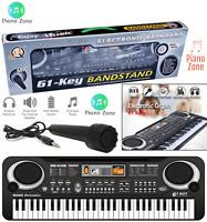 Digital Electronic Electric Piano Music 61 Keys Keyboard Organ & Mini Microphone