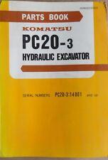 Komatsu escavatori idraulici PC 20-3 catalogo parti di ricambio