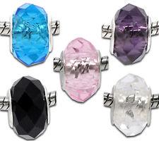 100 Mixte Perles Verre à Facette Pr Bracelet Charms 14x9mm
