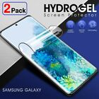2Pack HYDROGEL Screen Protector Samsung Galaxy S21 S20 Fe S10 S9 S8 Plus Note 20
