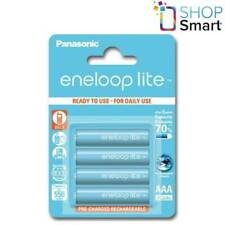 4 PANASONIC ENELOOP LITE RECHARGEABLE AAA HR3 BATTERIES BLISTER 1.2V 550mAh NEW