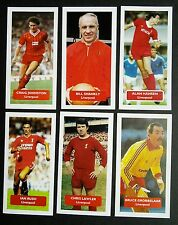 GROUP OF 6 LIVERPOOL Score UK football trade cards HANSEN LAWLER SHANKLY 6 of 26