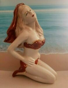 "TERRIFIC ART DECO 1930 STYLE ""BATHING BEAUTY PIN- UP""  PORCELAIN FIGURINE  DOLL"