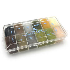 SUPER FINE DRY FLY DUBBING DISPENSER - Hareline Fly Tying Material - 12 Colors!