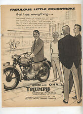 Triumph Tiger Cub 200cc OHV Motorcycle Original Advertisement from a Magazine
