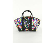 New Boutique Moschino Bugatti M Rose Women's Bag Multi-Color Leather Totes &
