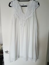 SMYS White Stunning Dress, 5XL, Lined, Floaty, Laganlook, Crochet Lace, Summer