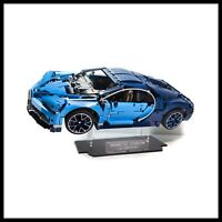 Bugatti Chiron acrylic display stand for Lego model 42083