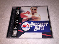 Knockout Kings (Sony PlayStation 1) PS1 Black Label Game Complete Excellent!
