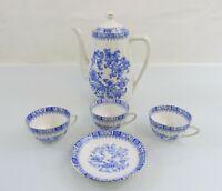 China Blau Bavaria - Kronester - Kaffee-Teeservice - Einzelteile, ca. 1940-1959