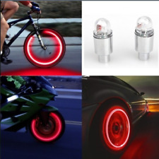 2PC Auto Car Accessories Bike Supplies Neon Strobe LED Tire Valve Caps Lights