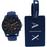 Armani Exchange Men's Outerbanks AX7107 Blue Silicone Quartz Fashion Watch