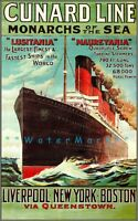 Cunard Line 1907 Ocean Liner Monarch Of The Sea Vintage Poster Print Ship Decor