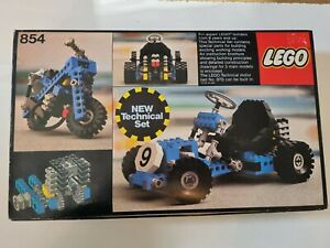 LEGO Vintage Set 854 Go-Kart Technic With Instructions & Box 1978 in mint cond