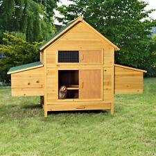 Geflügelstall Hühnerstall Hühnerhaus Hasenstall Freilauf Holz Kaninchenkäfig XXL