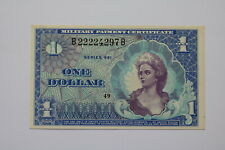 One Dollar Military Payment Certificate Series 661 US Unc B20 BK329
