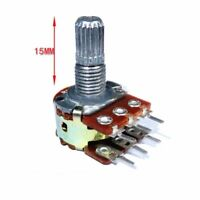 WH148 6PIN 15mm Rotary Potentiometer 5pc Set Dual Stereo Amplifier Electric Tool